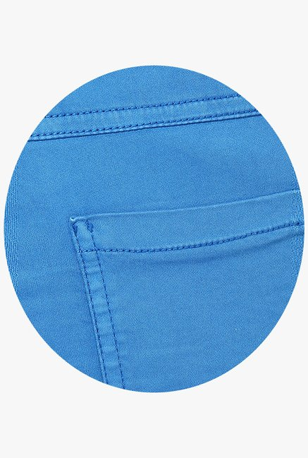 Only Blue Solid Chinos