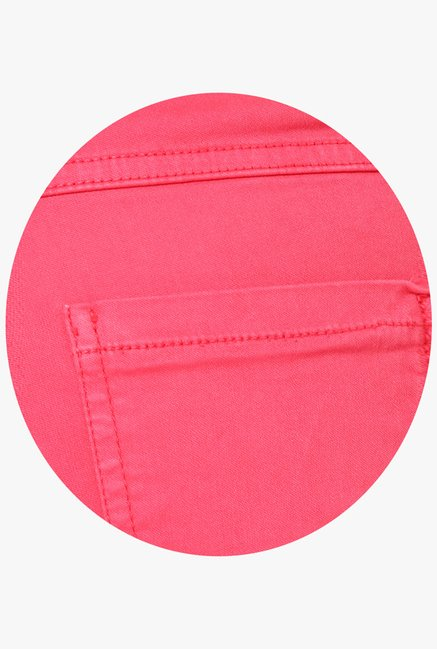 Only Coral Solid Chinos