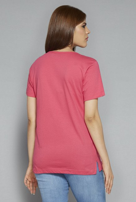 Gia by Westside Pink Printed T Shirt