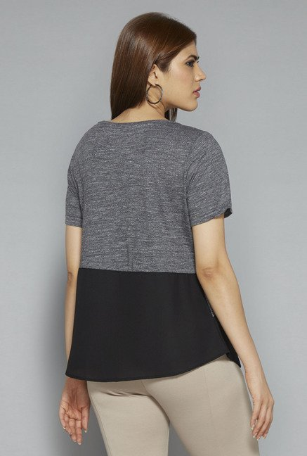 Gia by Westside Grey Embellished T Shirt