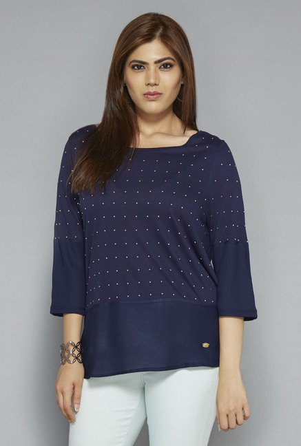 Gia by Westside Navy Embellished Blouse