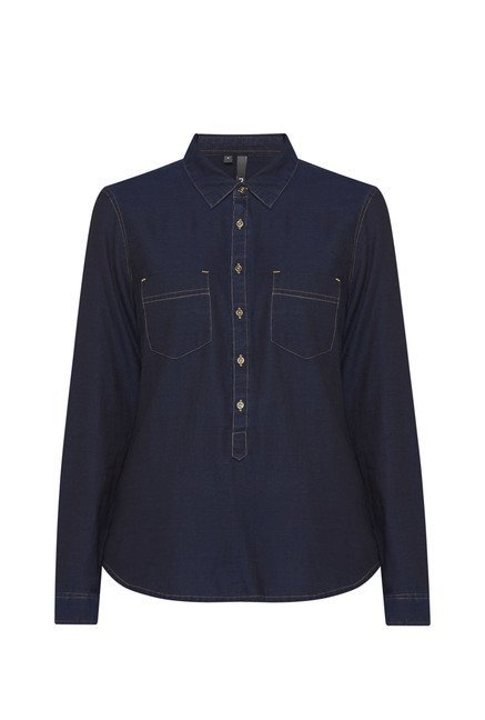 LOV by Westside Navy Tanya Blouse
