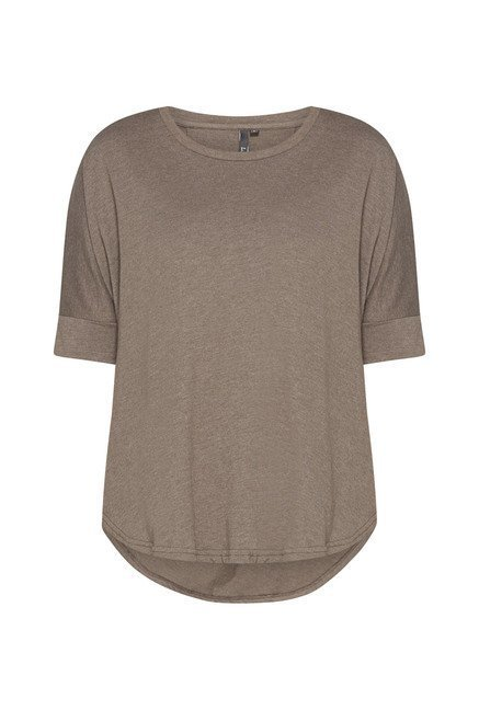 LOV by Westside Taupe Daphnee Top