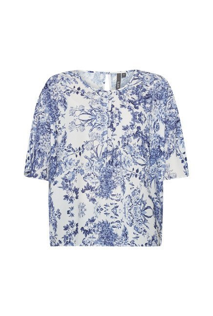 LOV by Westside White Floral Print Blouse