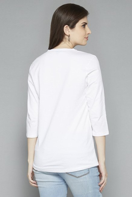 LOV by Westside White Solid Top