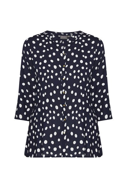 Gia by Westside Navy Printed Blouse