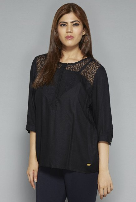 Gia by Westside Black Liya Blouse