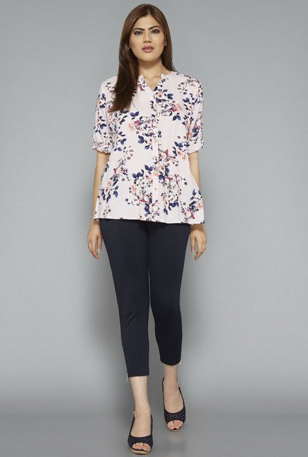 Gia by Westside Pink Floral Print Blouse
