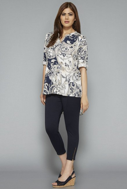 Gia by Westside Off White Printed Blouse