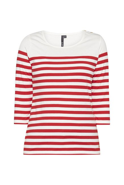 LOV by Westside White Striped T Shirt
