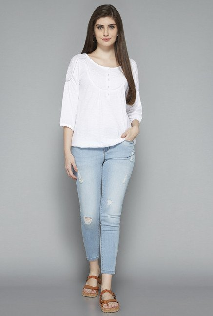 LOV by Westside White Dora Top