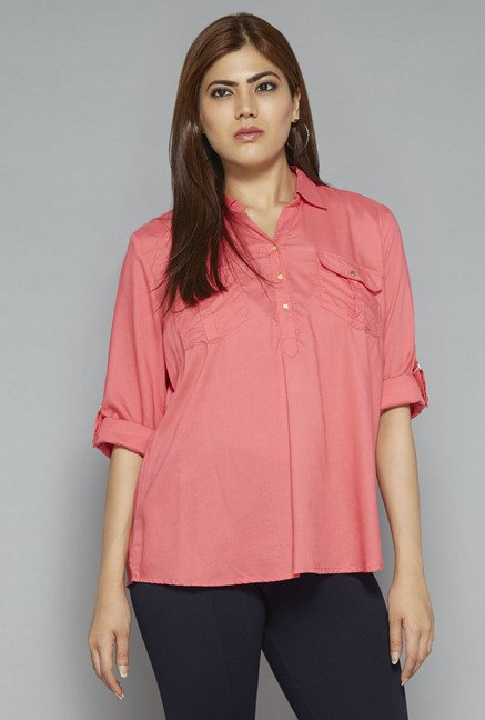 Gia by Westside Coral Nora Blouse