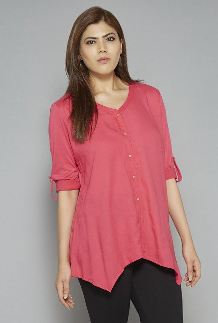 Gia by Westside Coral Robin Blouse