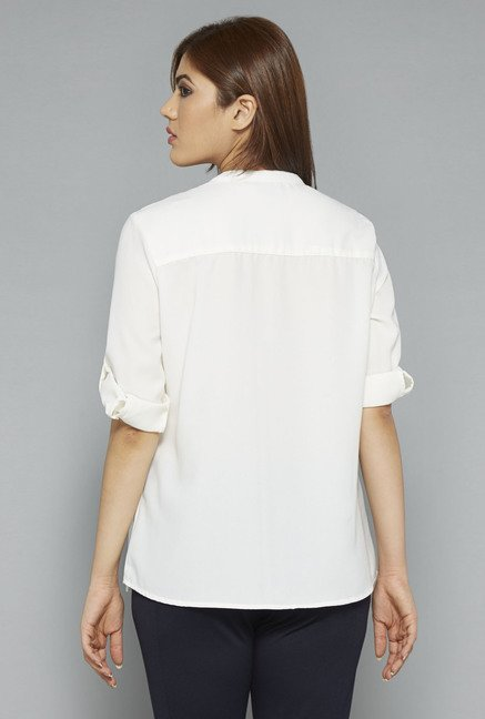 Gia by Westside White Joy Blouse
