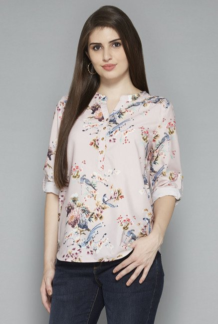 LOV by Westside Light Pink Seira Blouse