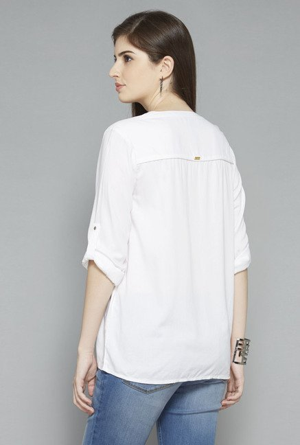 LOV by Westside White Cathy Blouse
