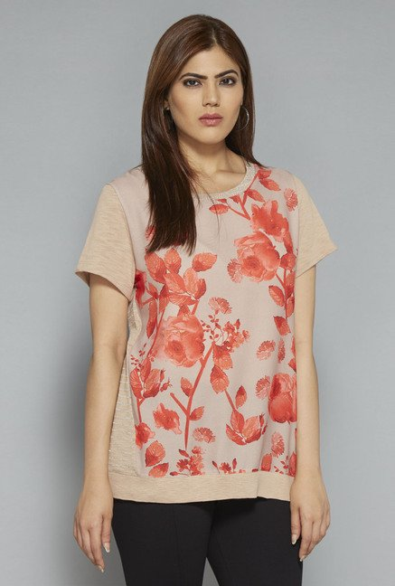 Gia by Westside Beige Greta Top