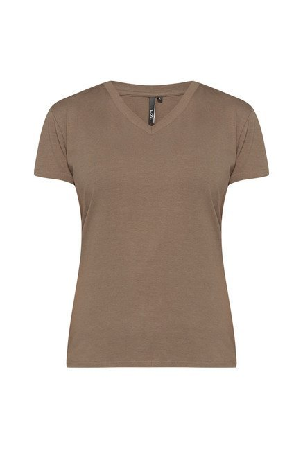 LOV by Westside Taupe Solid T Shirt