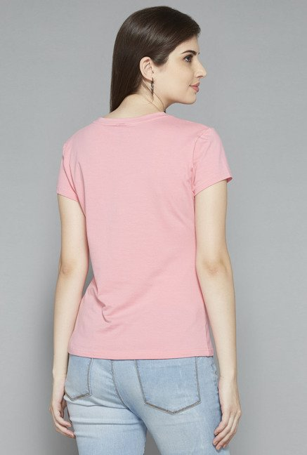 LOV by Westside Pink Solid T Shirt