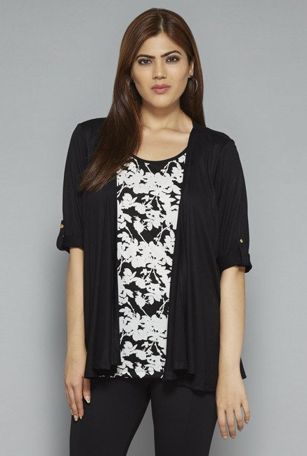 Gia by Westside Black Victoria Top
