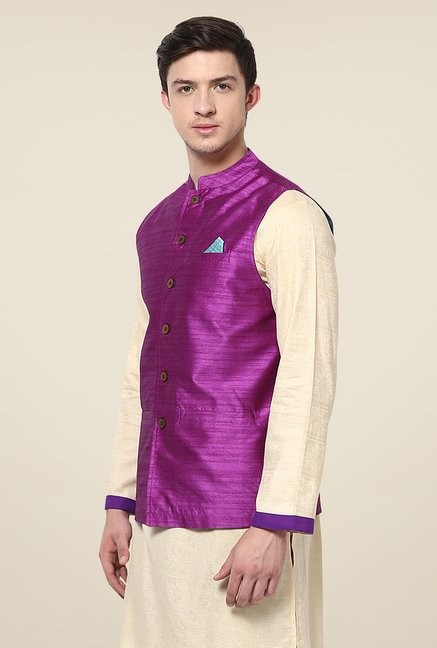 Yepme Purple Russo Nehru Jacket