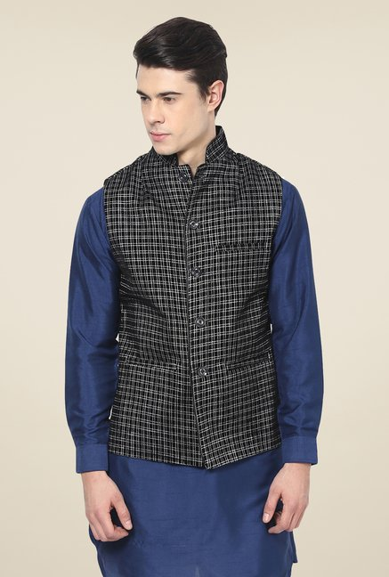 Yepme Black Abbott Ethnic Jacket