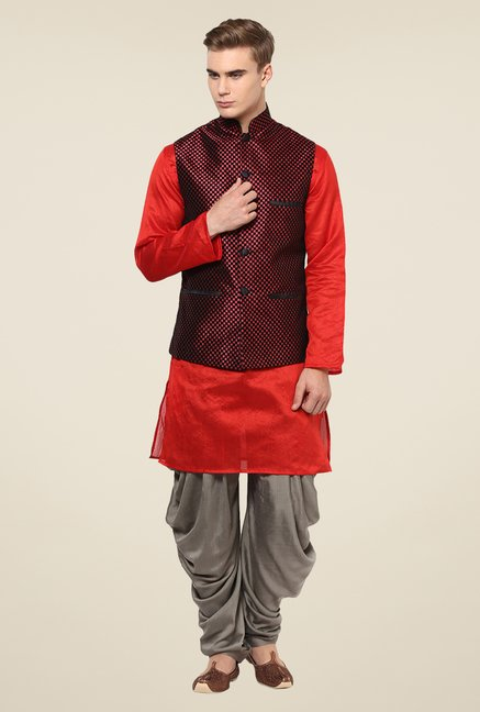 Yepme Red Adam Ethnic Jacket