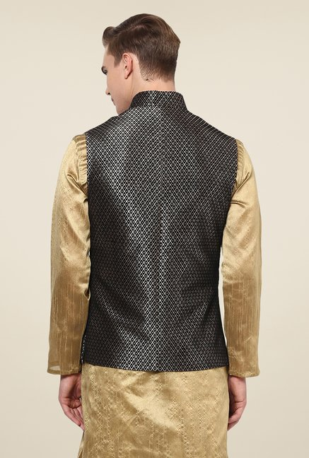 Yepme Black Vance Ethnic Jacket