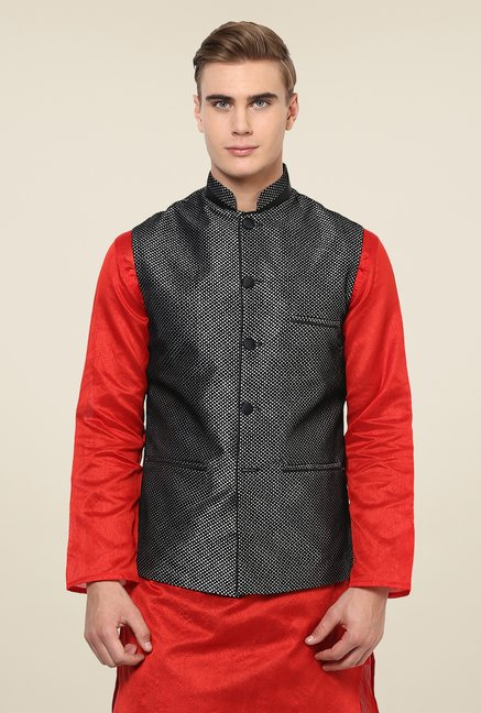 Yepme Black Alan Nehru Jacket