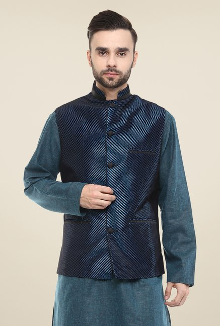 Yepme Navy Alan Nehru Jacket