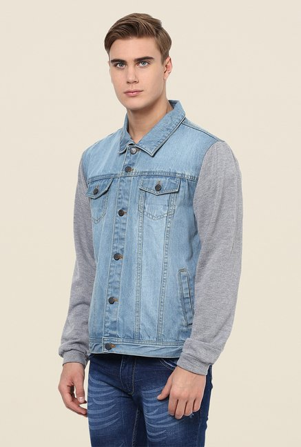 Yepme Blue Franklin Sleeveless Denim Jacket