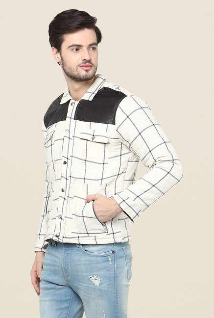 Yepme White Trent Full Sleeves Jacket