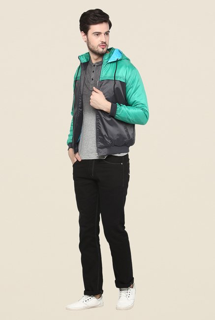 Yepme Green Jacques Full Sleeves Jacket