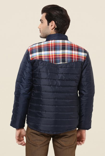Yepme Orlando Blue & Red Checked Jacket