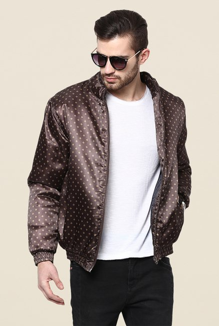 Yepme Clyde Brown Printed Jacket
