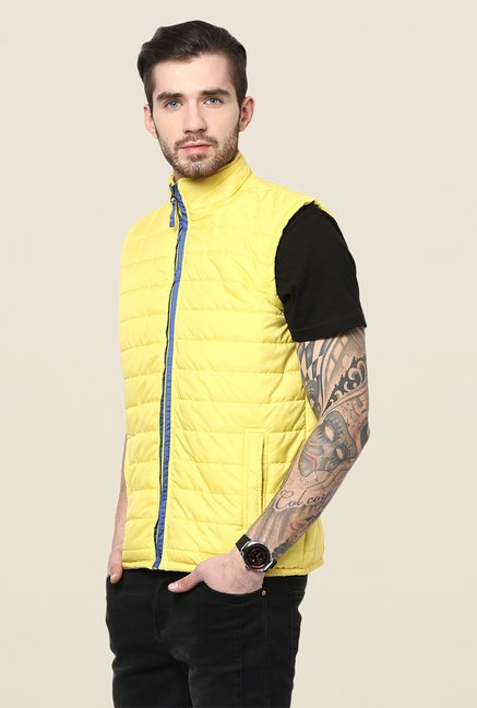 Yepme Julius Yellow Sleeveless Jacket