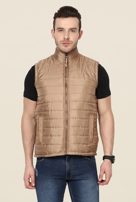 Yepme Julius Brown Sleeveless Jacket