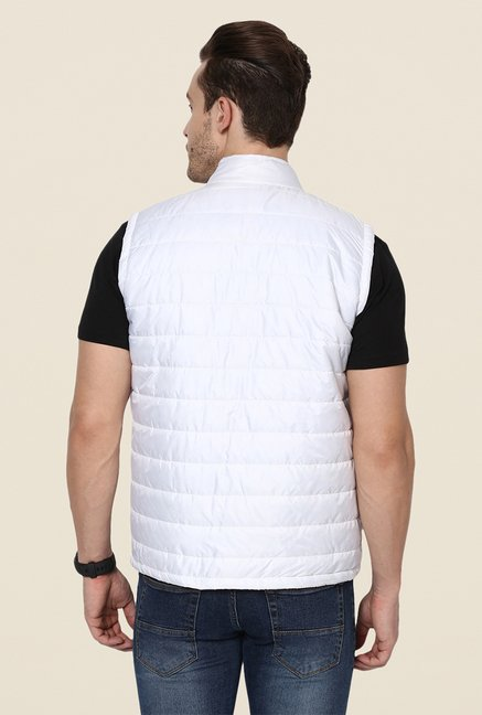 Yepme Julius White Sleeveless Jacket