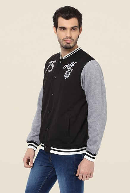 Yepme Louis Black & Grey Printed Jacket