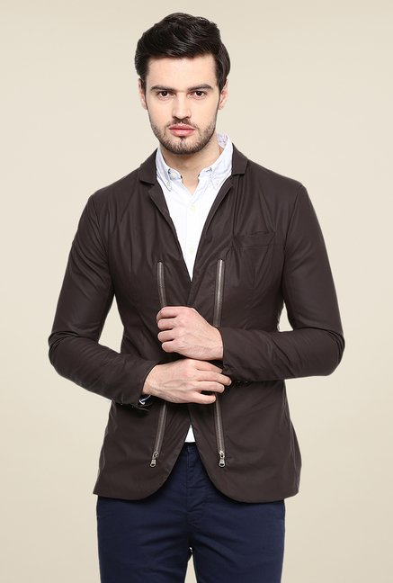 Yepme Trott Brown Party Blazer