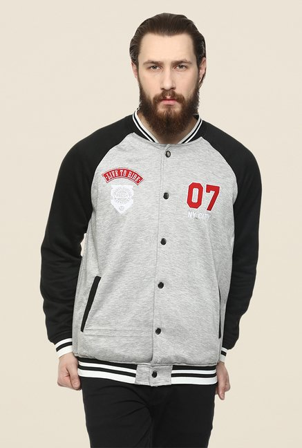 Yepme Toretto Grey & Black Printed Jacket
