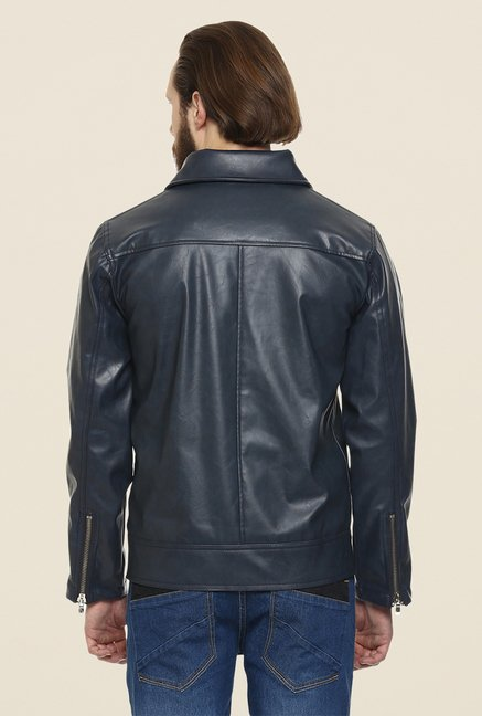 Yepme Fern Navy PU Leather Jacket