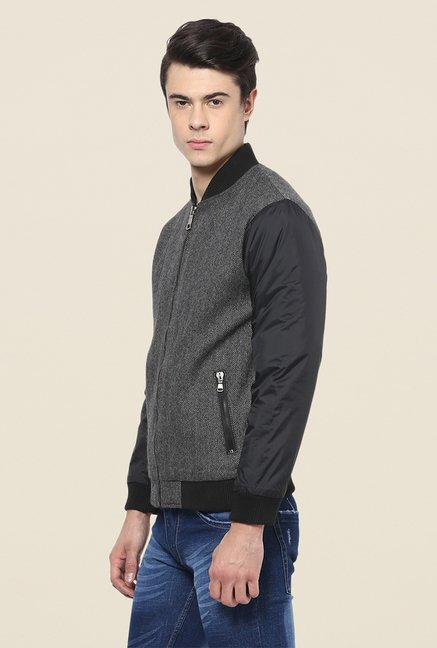 Yepme Stan Grey & Black Jacket