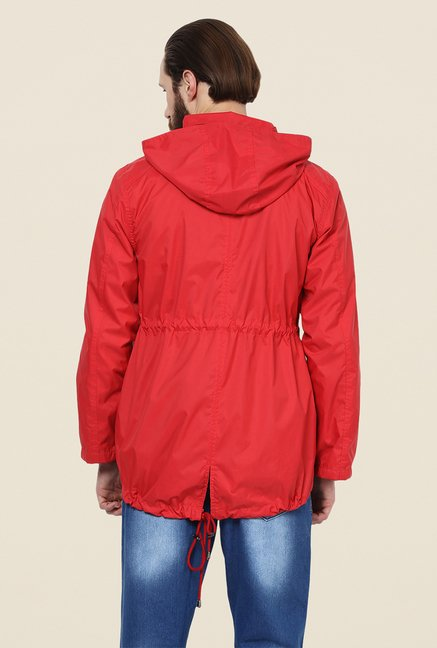Yepme Hecter Red Hooded Jacket