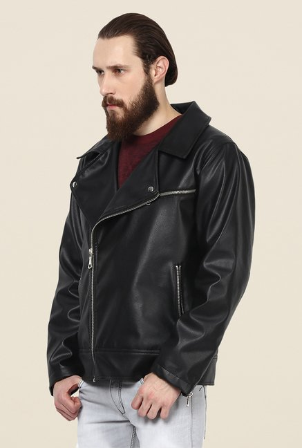 Yepme Fern Black PU Leather Jacket