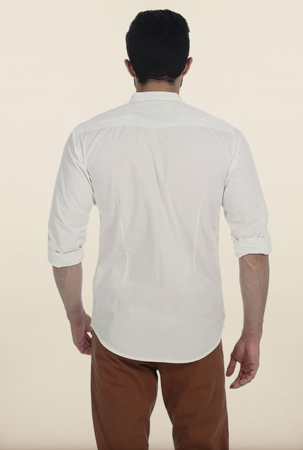 Basics Snow White Fine Twill Slim Fit Shirt