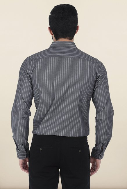 Basics Castle Rock Stripe Dobby Slim Fit Shirt