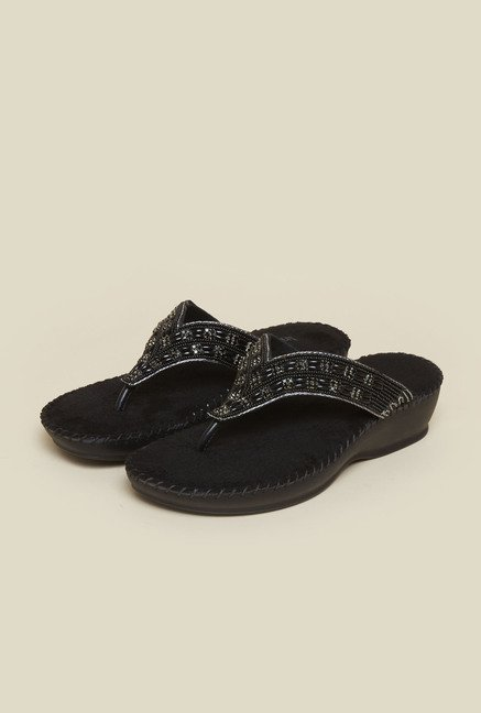 Inc.5 Black Casual Sandals