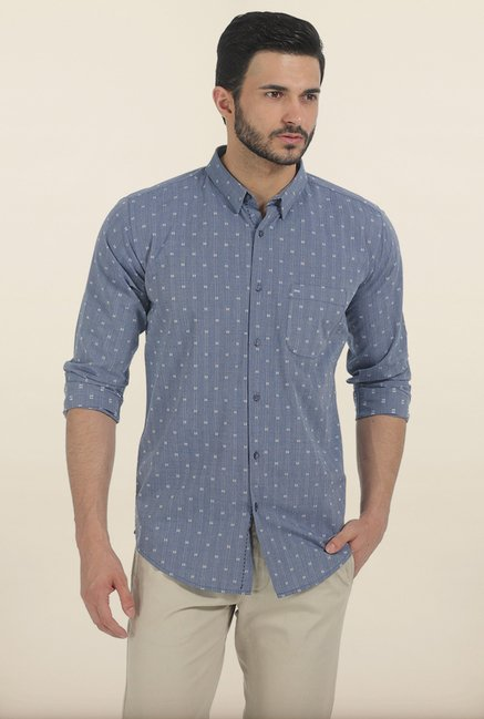 Basics Moonlight Blue Fila Fil Slim Fit Shirt