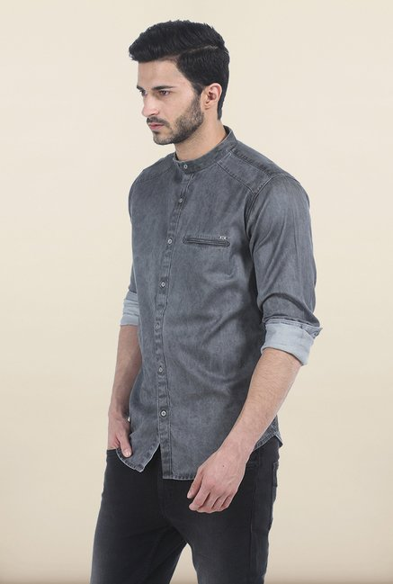 Basics Castle Rock Yarn Dyed Slim Fit Shirt